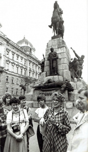 Maciej Sochor, At the Grunwald Monument in Kraków, 1980
