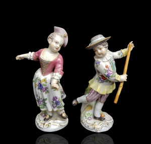 A Pair of Dancers, Meissen, early 20th century