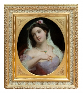 Girl with Cross Pendant, France, circa 1850